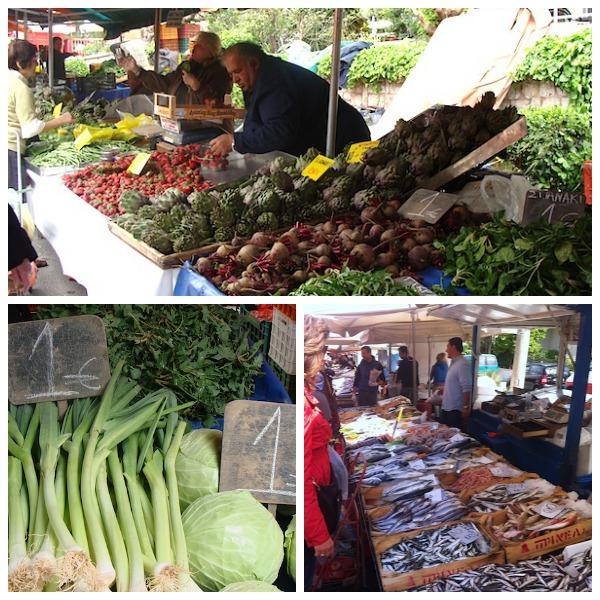 Laiki market in Greece