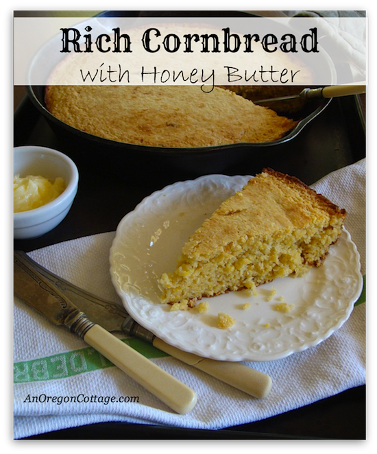 Rich Cornbread with Honey Butter