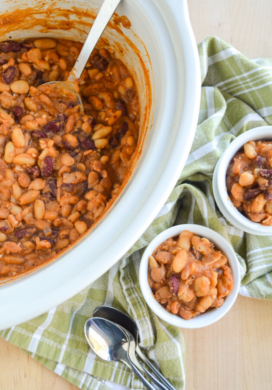 Slow cooker baked beans featured image