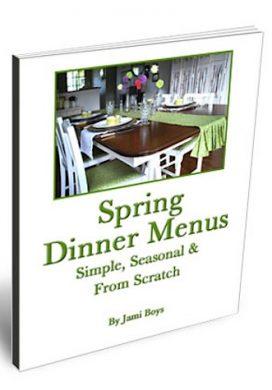 Spring-Dinner-Menus eBook cover