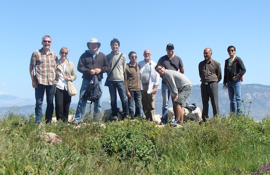 group at corinth castle ruin top