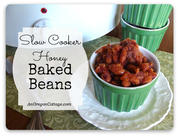 Slow Cooker Honey Baked Beans - An Oregon Cottage