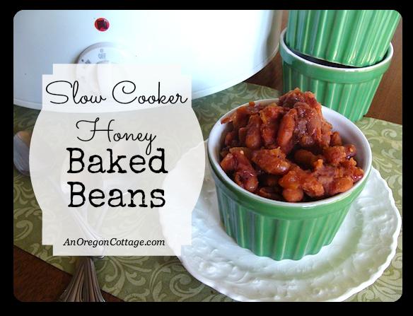 slow cooker honey baked beans