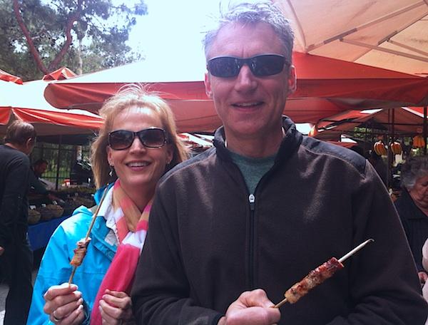 souvlaki at market