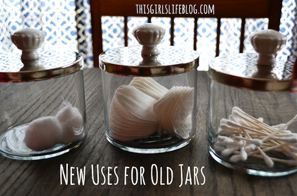 upcycled apothecary jars