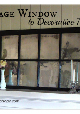How to turn a vintage window into a mirror - An Oregon Cottage