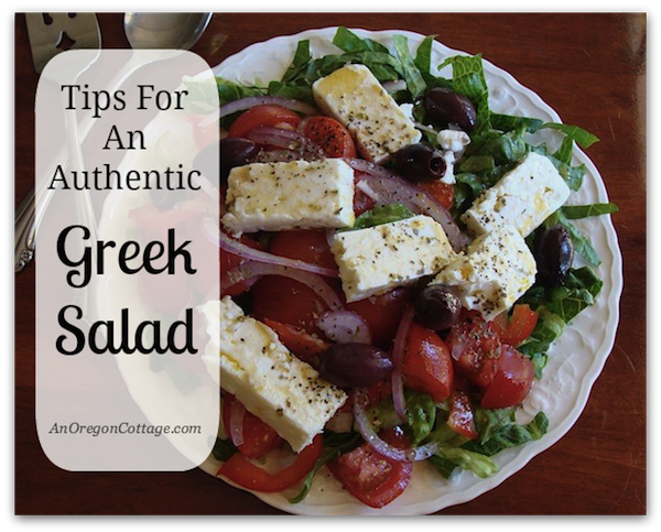 Authentic Greek Salad Tips