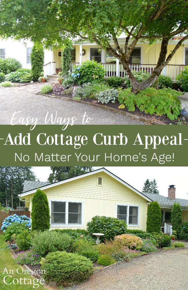 Easy ways to add cottage curb appeal pin image