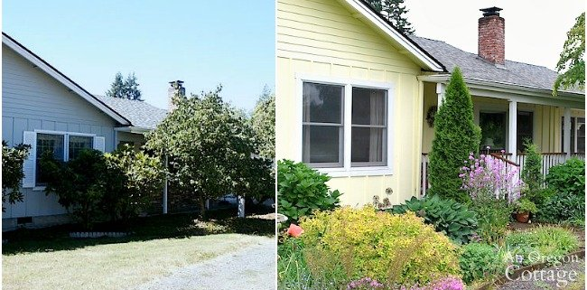 Welcoming Front Garden before and after