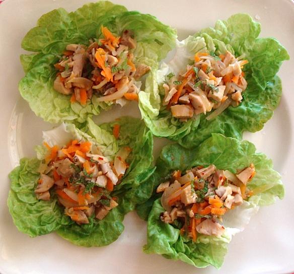 chicken-lime lettuce wraps