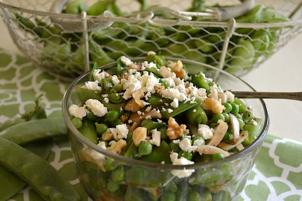 Three Pea Salad with Feta