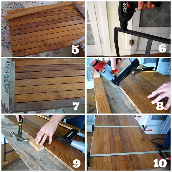 Assembling Old Wood Desk Top