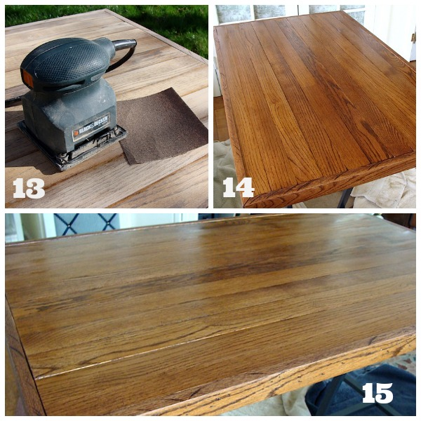 Finishing Salvaged Floor Desk Top