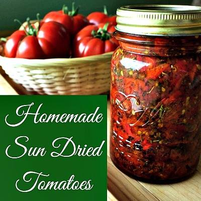 Homemeade Sundried Tomatoes at Homemade Food Junkie