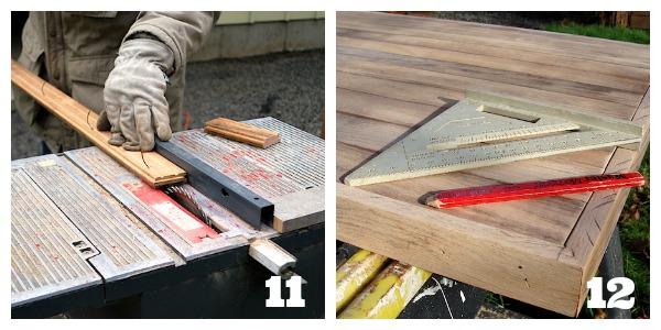 Salvaged Wood Floor Desk Edges