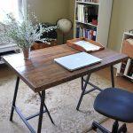 Salvaged Wood Trestle Desk