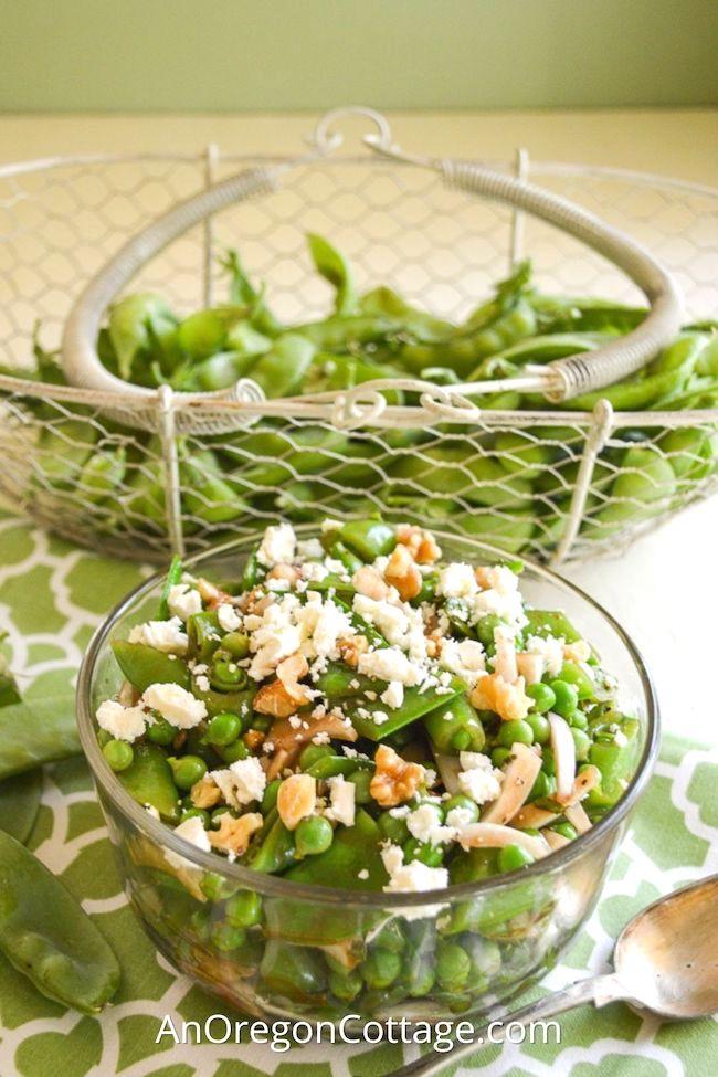 pea salad with feta_featured