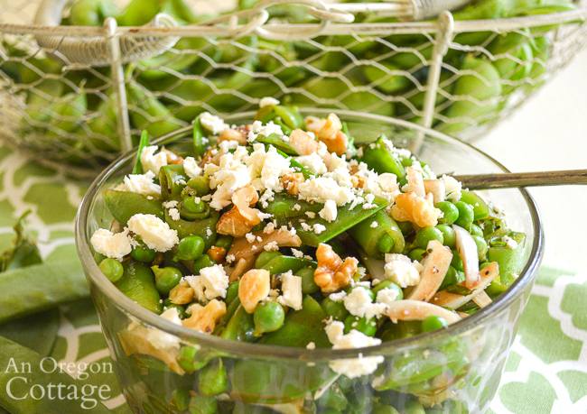 three pea salad-close