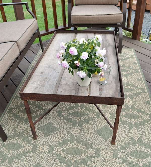 Gazebo rustic coffee table