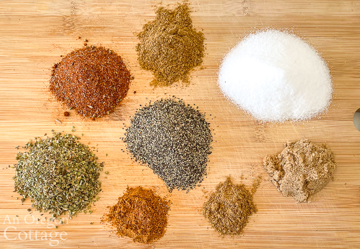 Tex-Mex spice rub ingredients