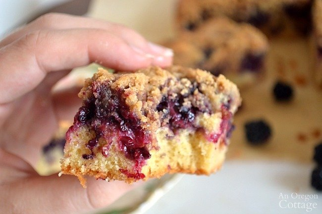 Whole Wheat Blackberry Bars bite