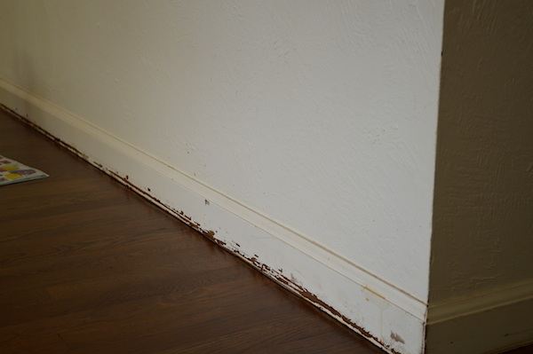 baseboard before paint