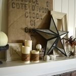 2013 Fall Mantle-burlap-iron::AnOregonCottage
