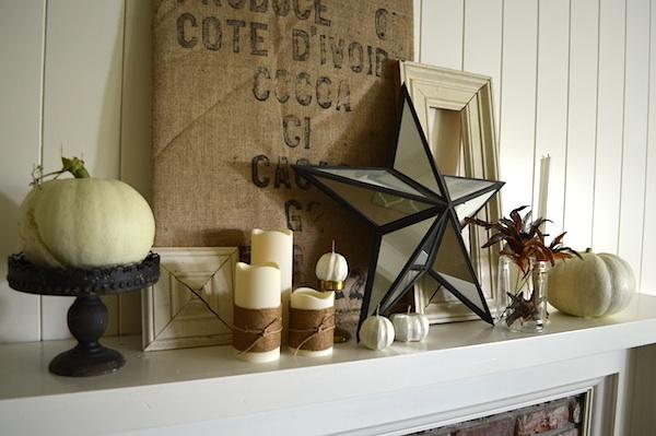 2013 Fall Mantle-Burlap & Iron :: An Oregon Cottage