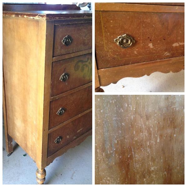Antique Dresser Before Details