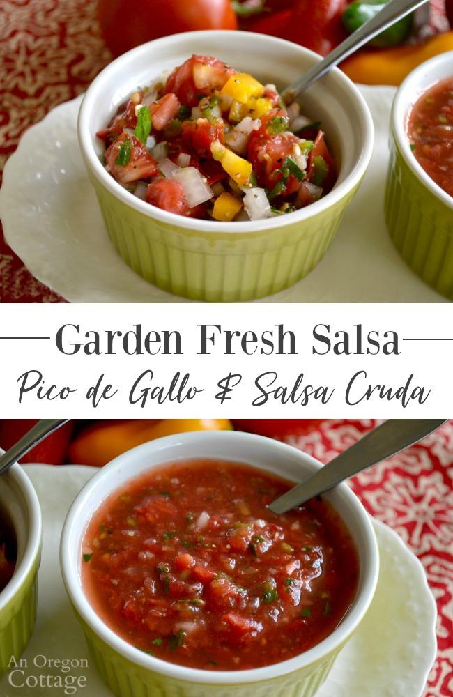 Garden Fresh Salsa-Pico-Cruda