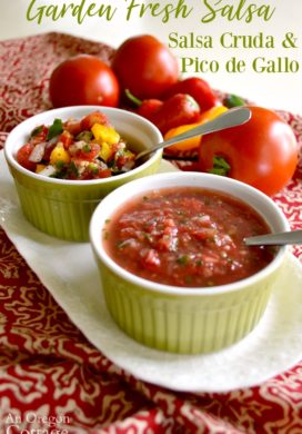 Garden Fresh Salsa Cruda & Pico de Gallo Recipe