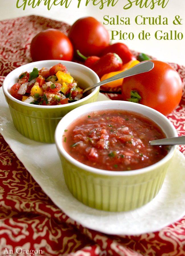 Garden Fresh Salsa-Pico de Gallo-Salsa Cruda