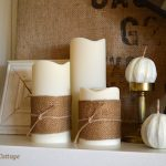 Gold Burlap Candle Wraps :: An Oregon Cottage