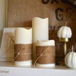 Gold Burlap Candle Wraps :: An Oregon Cottage