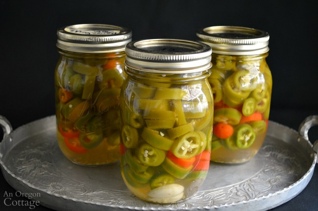 Quick Pickled Jalapeños- AnOregonCottage.com