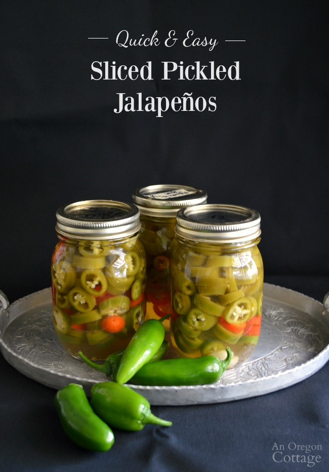 Quick Sliced Pickled Jalapeños- done in 3 easy steps and better than store-bought!