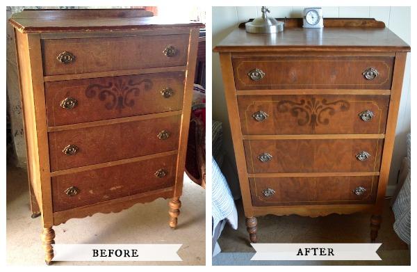 Restored Antique Dresser Before After::AnOregonCottage.com