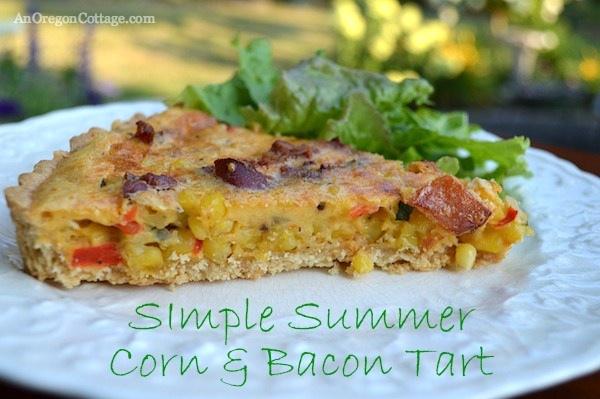 Summer Corn-Bacon Tart