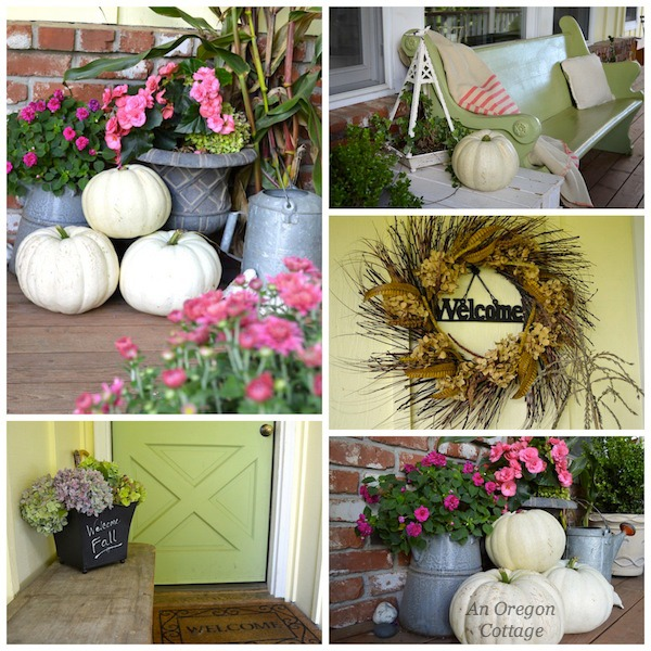 Natural Fall Porch Updates - An Oregon Cottage