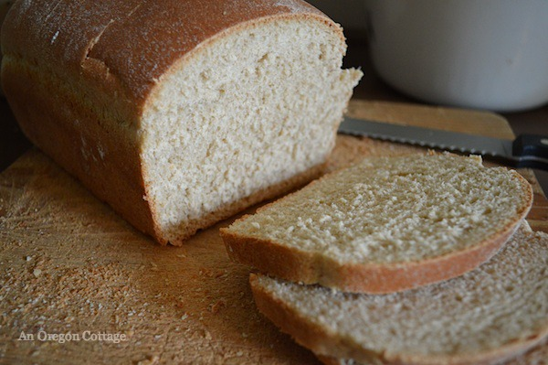 Slicing bread-serrated knife:: An Oregon Cottage