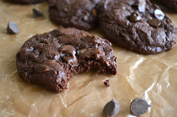 Fudgy Dark Chocolate Zucchini Cookies