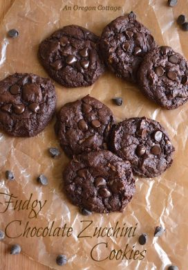 Fudgy Chocolate Zucchini Cookies