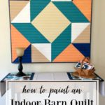 Indoor painted barn quilt