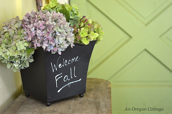 Natural Fall Porch: Pink, Green & White