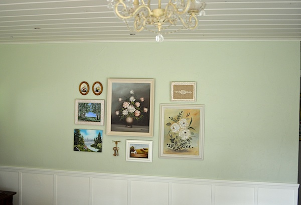 Thift store painting gallery wall