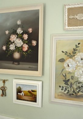 Thrifted Oil Paintings Gallery Wall and A Basket: ORC Week Two