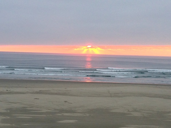 10-13 ocean sunset-An Oregon Cottage
