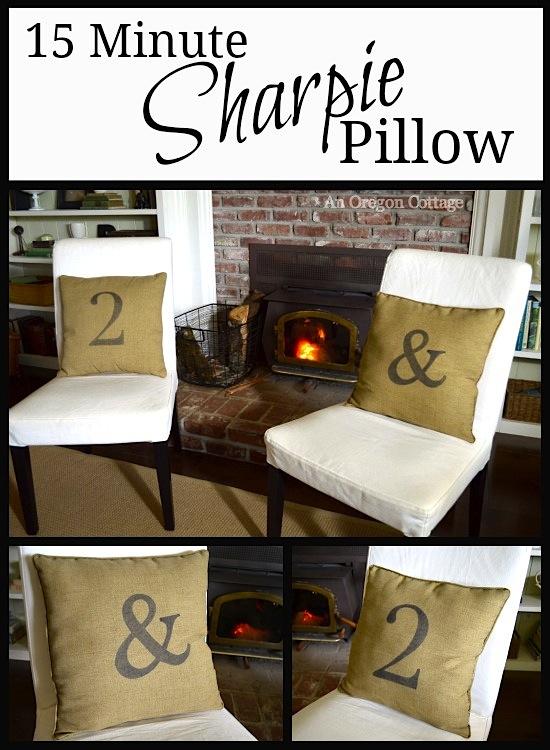 15 Minute Sharpie Pillow :: An Oregon Cottage