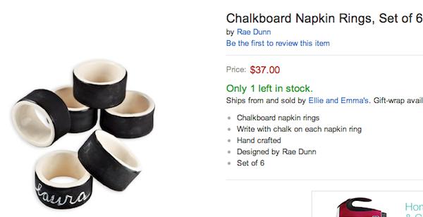 Amazon napkin rings