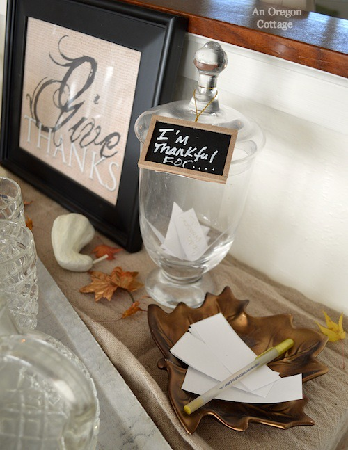 Apothecary Thankful Notes- An Oregon Cottage